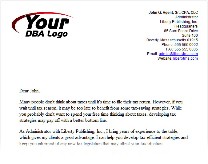 CPA-Agent-Introduction-Letter Open House Thank You Letter Template on corporate sponsor, microsoft word, for creative, after job interview, free sample, for writing, for students, pdf donation, interview email,